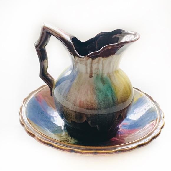 Vintage Japan Ceramic Creamer/Pitcher & Saucer Set
